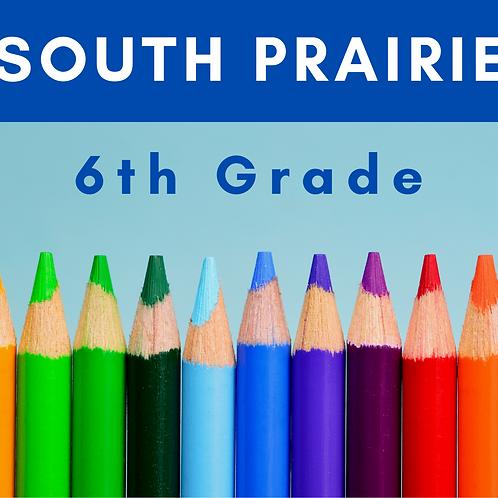 South Prairie Sixth Grade School Supply Package