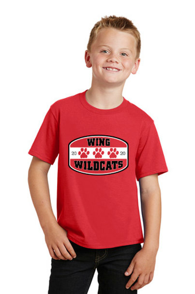 Wing Wildcats Youth T-Shirt, Red