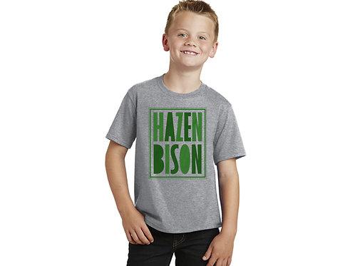 Hazen Bison Youth T-shirt, Heather