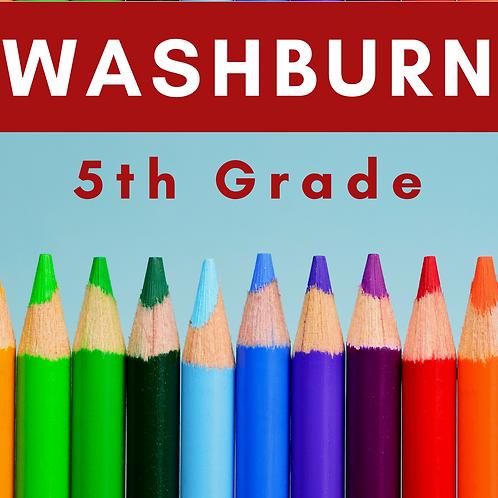 Washburn Fifth Grade School Supply Package