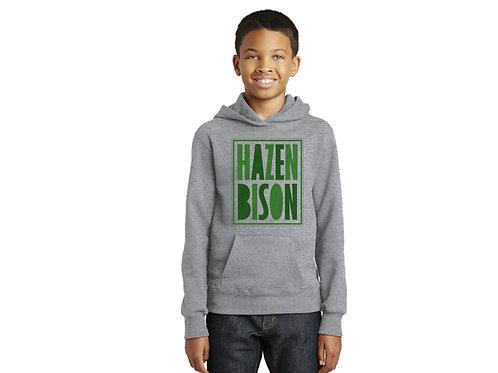Hazen Bison Youth Hoodie, Heather