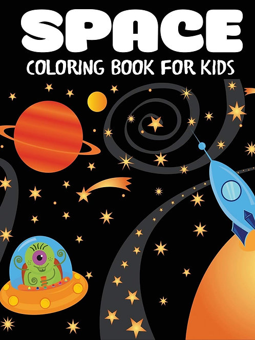 Coloring Book, Fantastic Outer Space