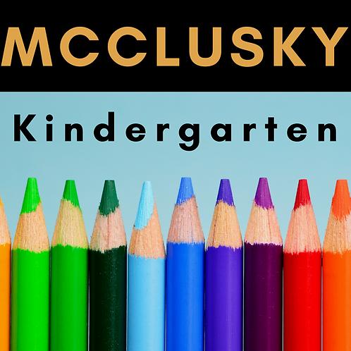 McClusky Kindergarten School Supply Package