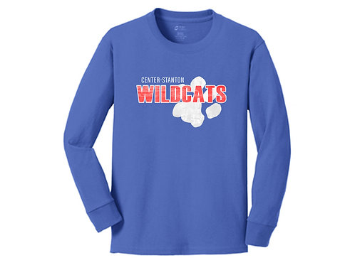 Center-Stanton Wildcats Youth Long Sleeve T-shirt