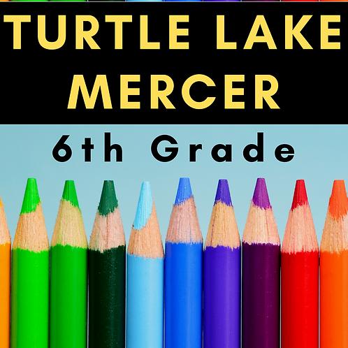Turtle Lake-Mercer Sixth Grade School Supply Package