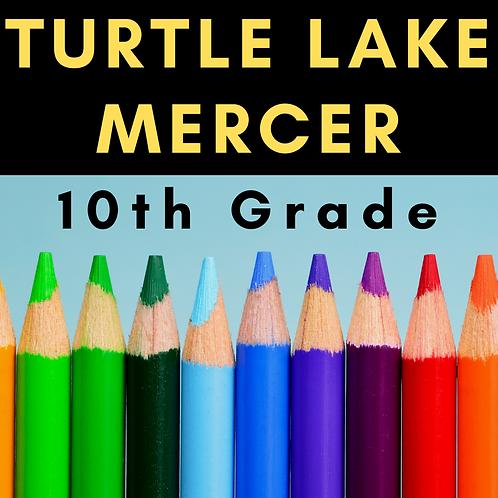 Turtle Lake-Mercer Tenth Grade School Supply Package