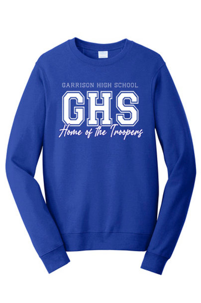 Garrison High School Home of the Troopers Crewneck
