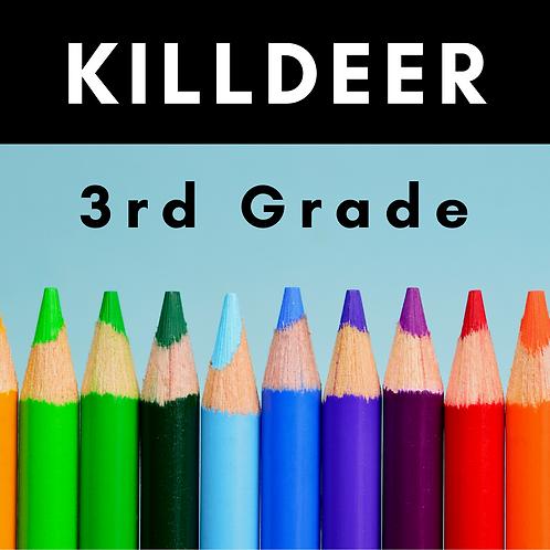Killdeer Third Grade School Supply Package