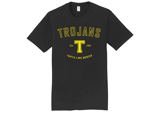 D - Trojans Short Sleeve, Black