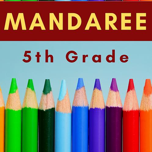 Mandaree Fifth Grade School Supply Package