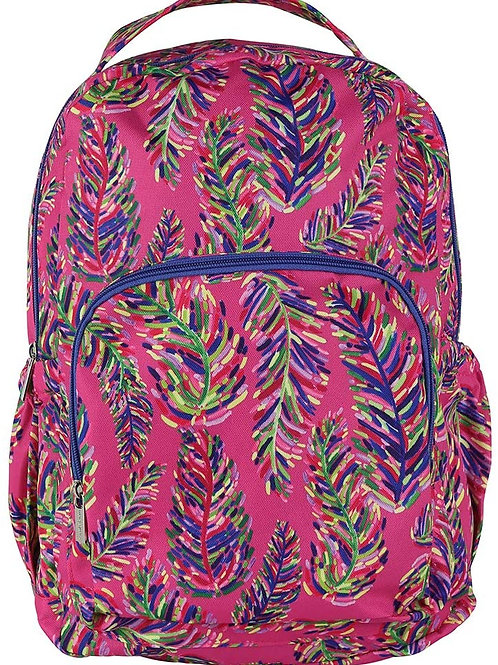 Mary Square Pink Frond Backpack