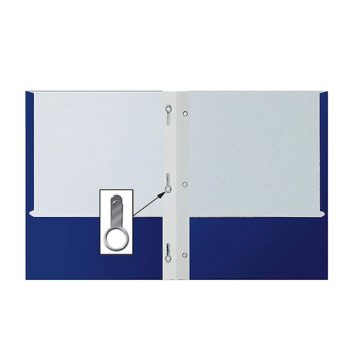 Paper folder with Internal Prongs, Dual pockets