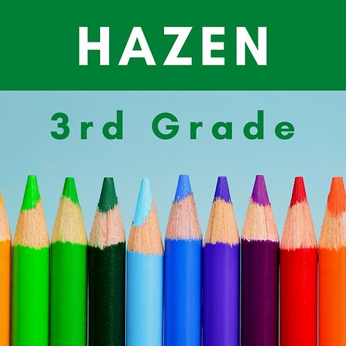 Hazen Third Grade School Supply Package