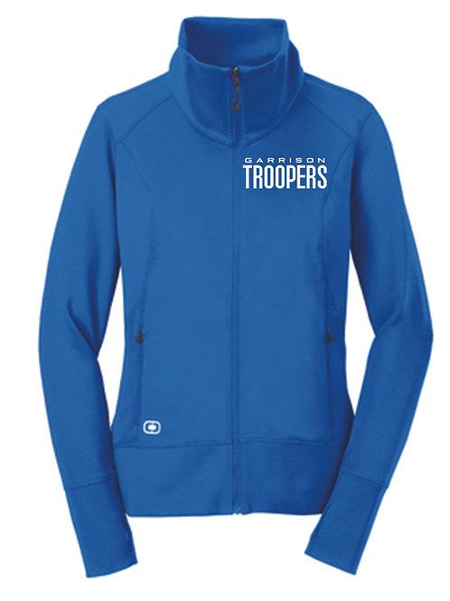 X - Ladies Troopers OGIO Fulcrum Full-Zip Jacket, Electric Blue