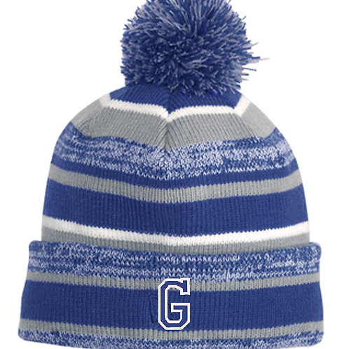 11 - Troopers New Era Sideline Beanie, Royal and Gray