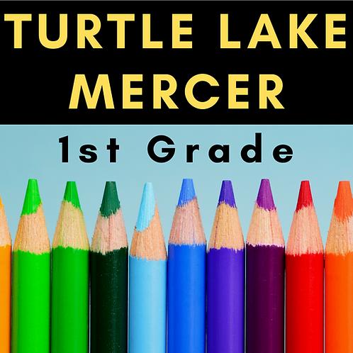 Turtle Lake-Mercer First Grade School Supply Package