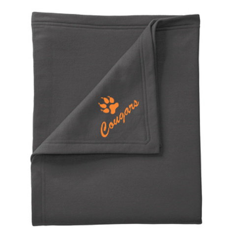 Central McLean Cougars Fleece Blanket, Charcoal