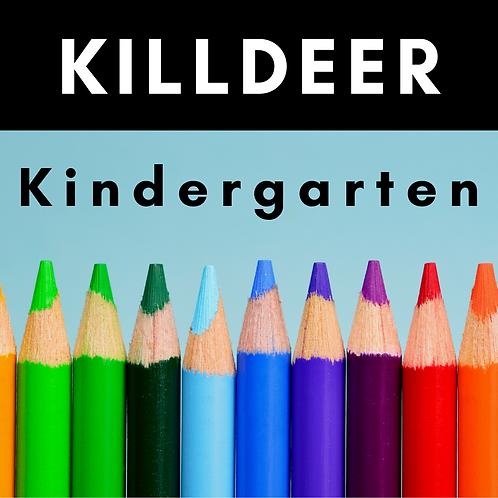 Killdeer Kindergarten School Supply Package