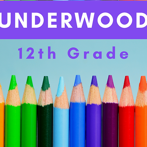 Underwood Twelfth Grade School Supply Package
