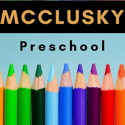 McClusky Preschool School Supply Package