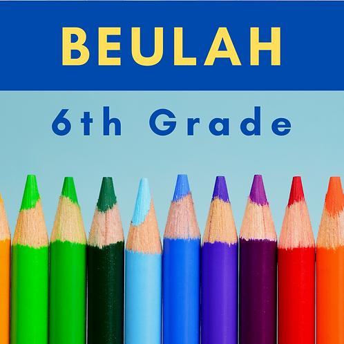Beulah Sixth Grade School Supply Package