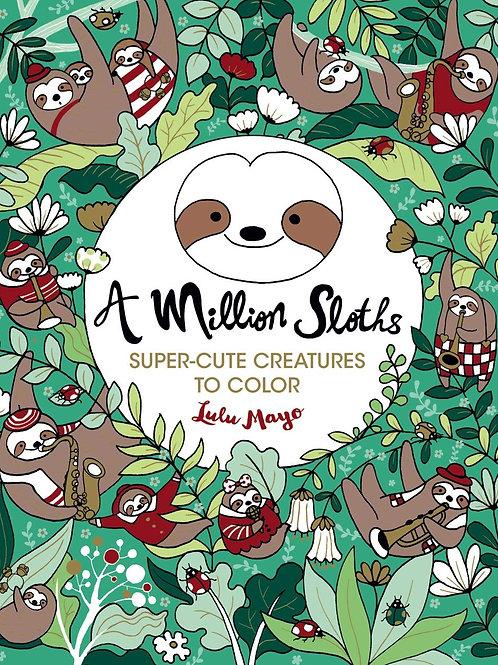 Coloring Book, A Million Sloths