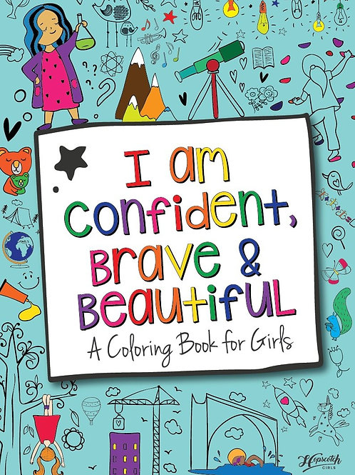 Coloring Book, I Am Confident, Brave & Beautiful