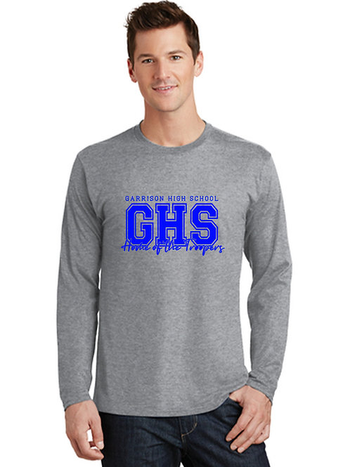 E - Troopers Long Sleeve T-shirt, Athletic Heather