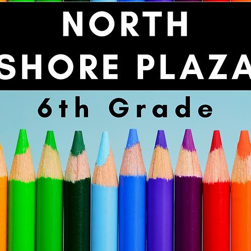 North Shore Plaza Sixth Grade School Supply Package
