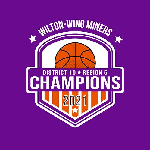 Wilton-Wing Miner Girls District 10 Region 5 Champion Shirt