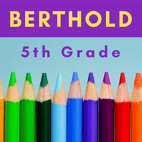 Berthold Fifth Grade School Supply Package
