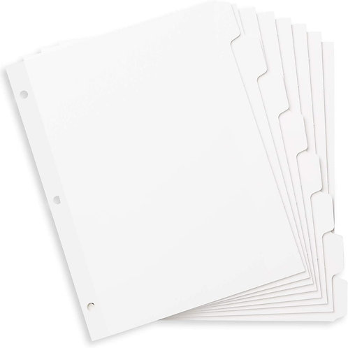 Divider Tabs, 8 pack