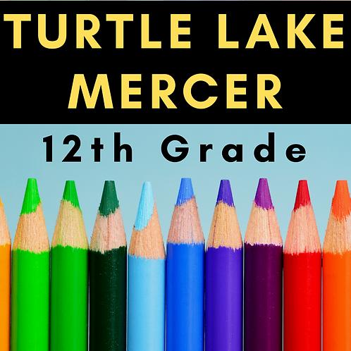 Turtle Lake-Mercer Twelfth Grade School Supply Package