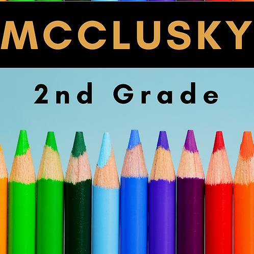 McClusky Second Grade School Supply Package