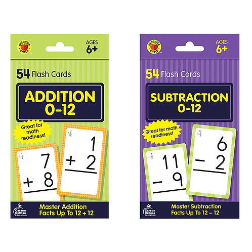 Addition and Subtraction cards, 54 cards per pack