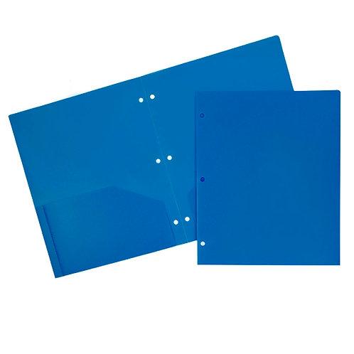 Plastic 3-hole Folder, Choice of color