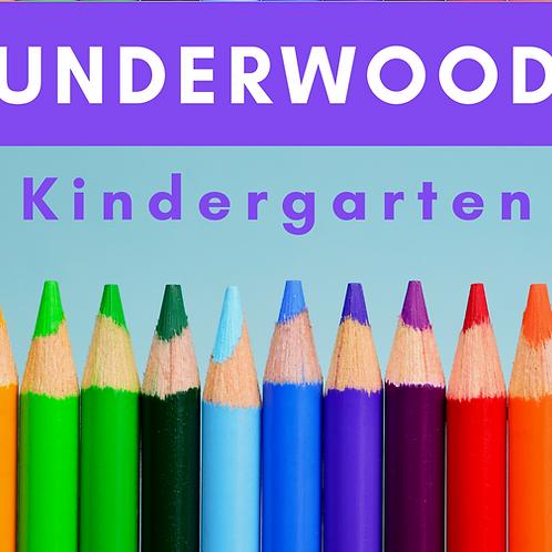 Underwood Kindergarten School Supply Package