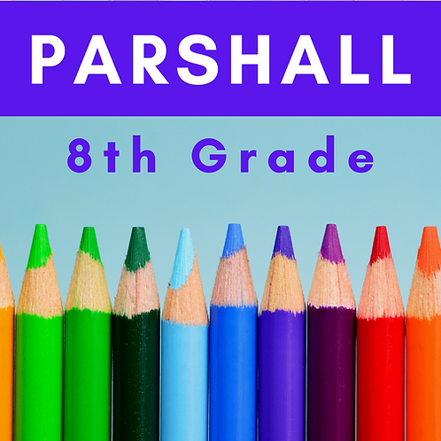 Parshall Eighth Grade School Supply Package