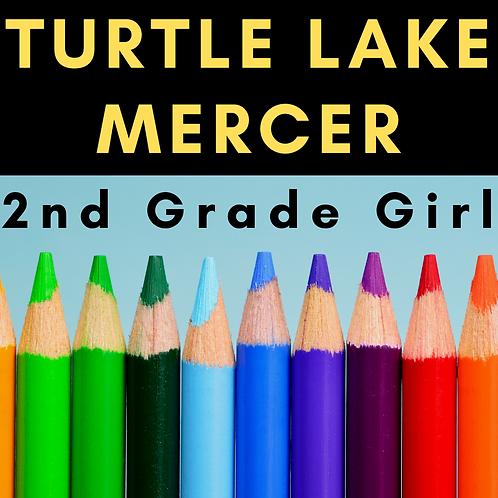 Turtle Lake-Mercer Second Grade School Supply Package, Girl