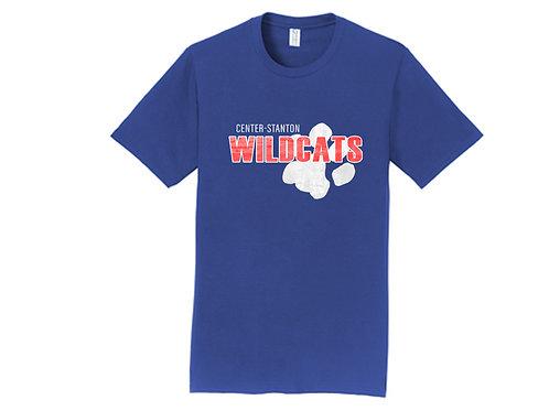 Center-Stanton Wildcats T-shirt, Royal