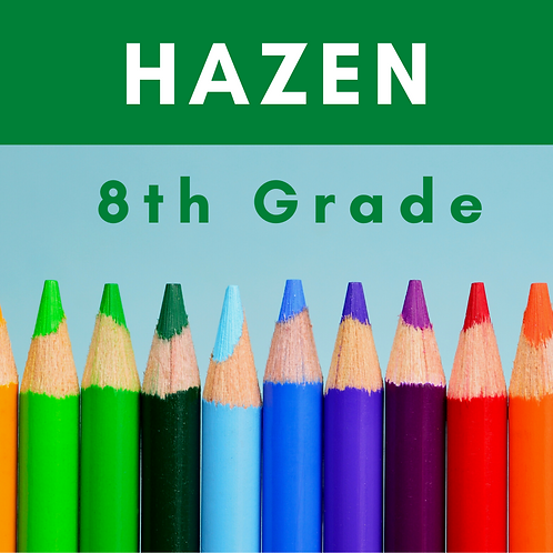 Hazen Eighth Grade School Supply Package