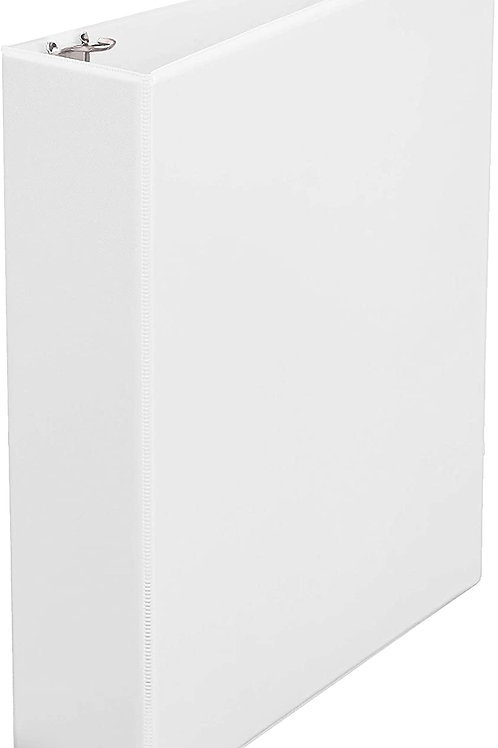 2-inch binder, clear-view front, white