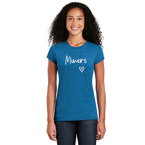 Ladies Beulah Miners Heart T-Shirt