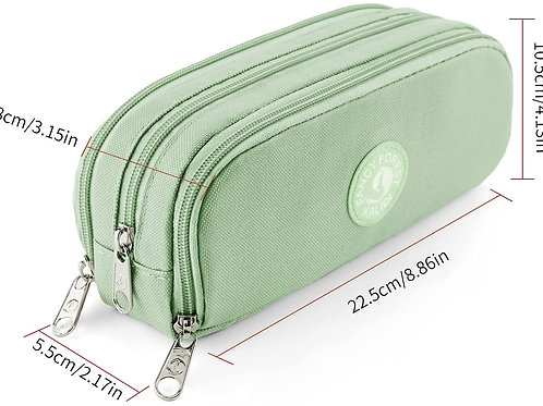 Pencil pouch, 3-compartment, Choice of color