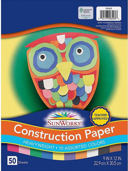 Construction paper, Multi-color, 50 sheets
