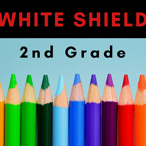 White Shield Second Grade School Supply Package