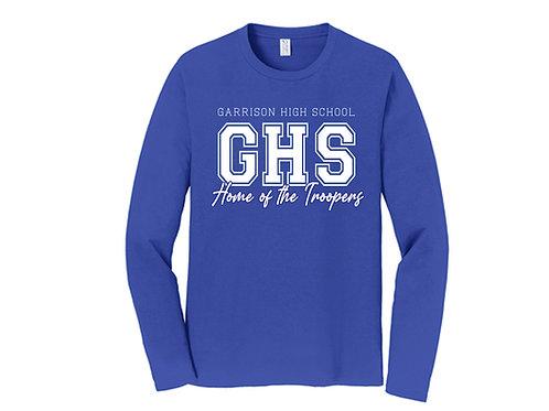 Garrison High School Home of the Troopers Adult Longsleeve