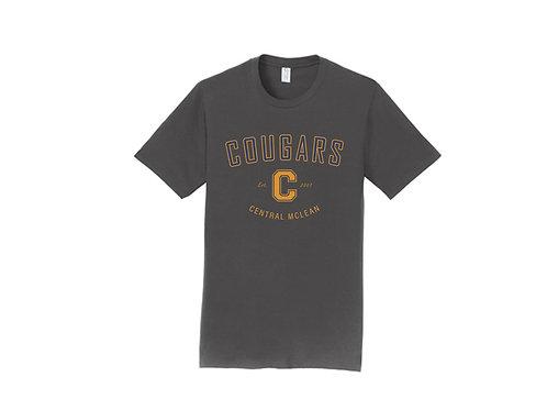 B - Cougars T-Shirt, Charcoal