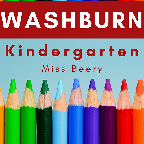 Washburn Kindergarten School Supply Package, Miss Beery