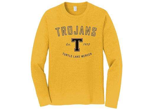 H - Trojans Long Sleeve, Gold